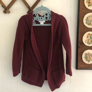 Old Navy • Burgundy Knit Cardigan